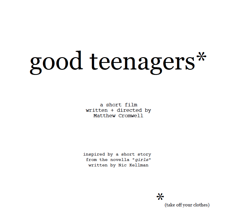 good teenagers*